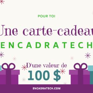 Carte cadeau Encadratech